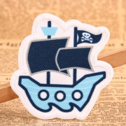 Pirate Ship Custom Woven Patches